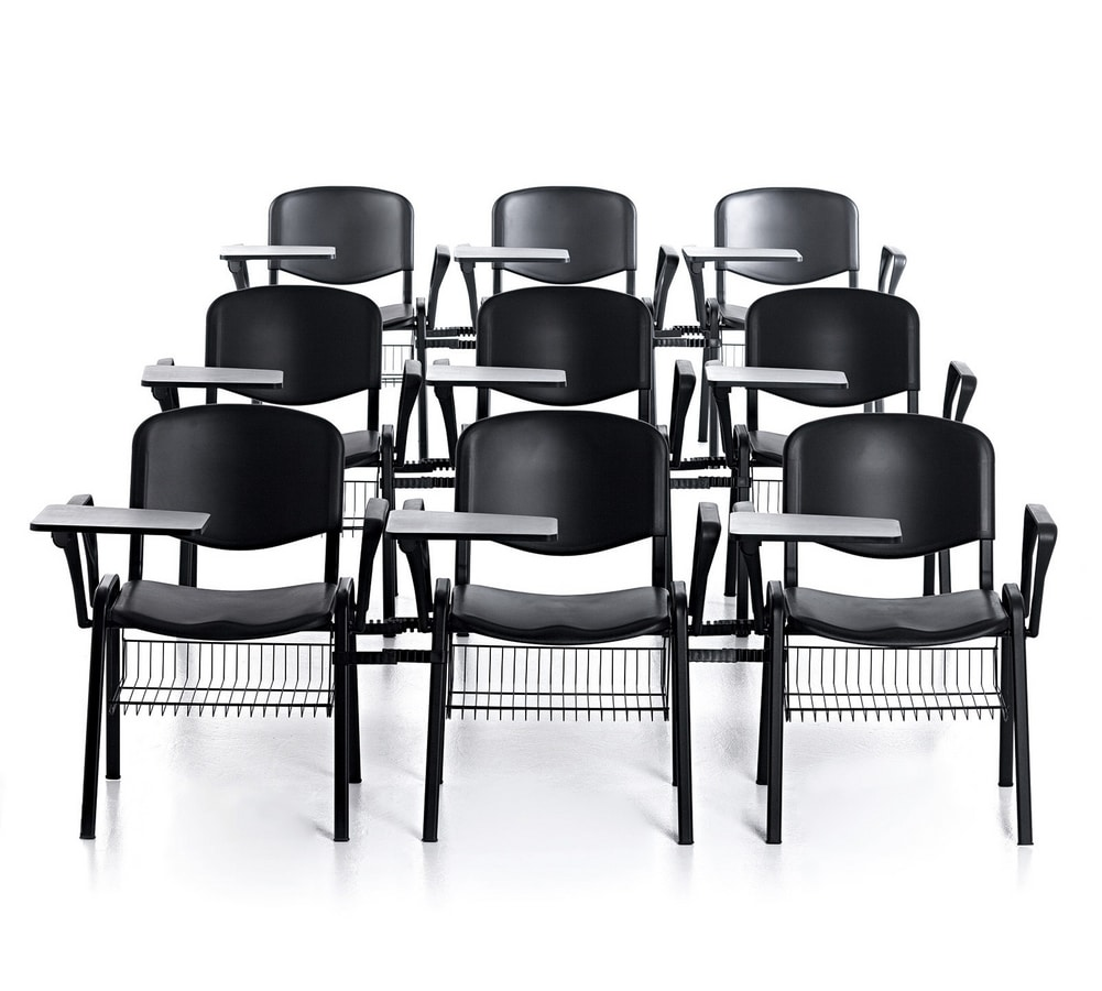 Leo 03, Metal chair, seat and back in polypropylene