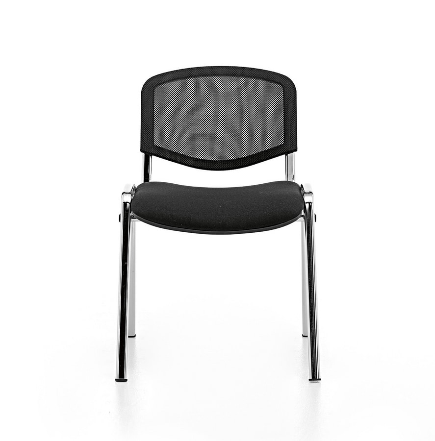 Leo Air, Stackable chair for community, non-slip rubber feet