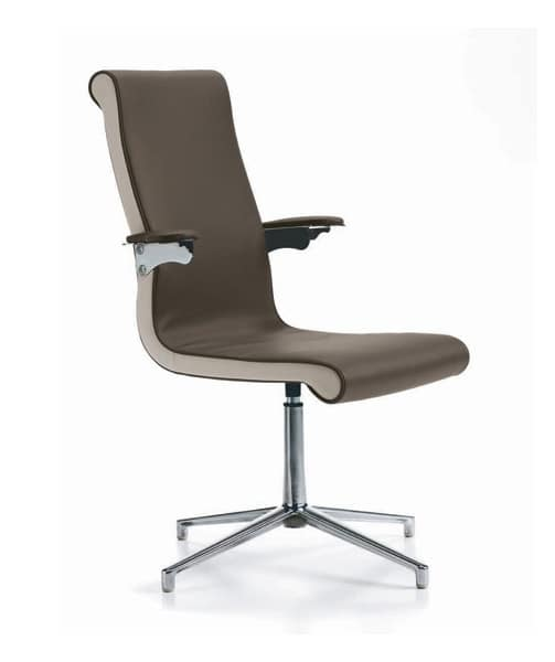 Liz executive, Office chair, in polyurethane, suspension armrests