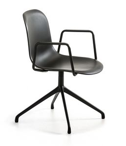 Mani Plastic AR SP, Office swivel chair with armrests