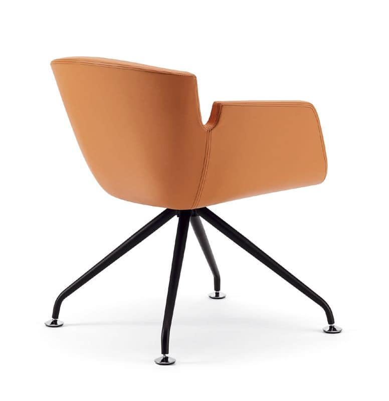 NUBIA 2900, Upholstered monocoque armchair, for conference halls