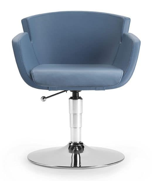 NUBIA 2901, Upholstered chair, with chromed base, gas lift, for office