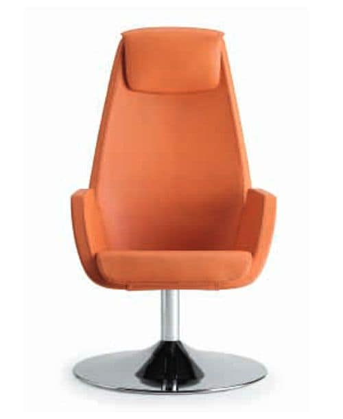 NUBIA 2921, Upholstered armchair with headrest for modern office