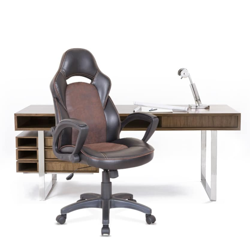 Office armchair racing sports ergonomic chair – SU001RAC, Office chair with wheels, with visible stitching