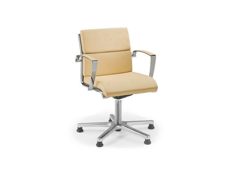 Origami CU guest 70435, Padded chair with wheels for office