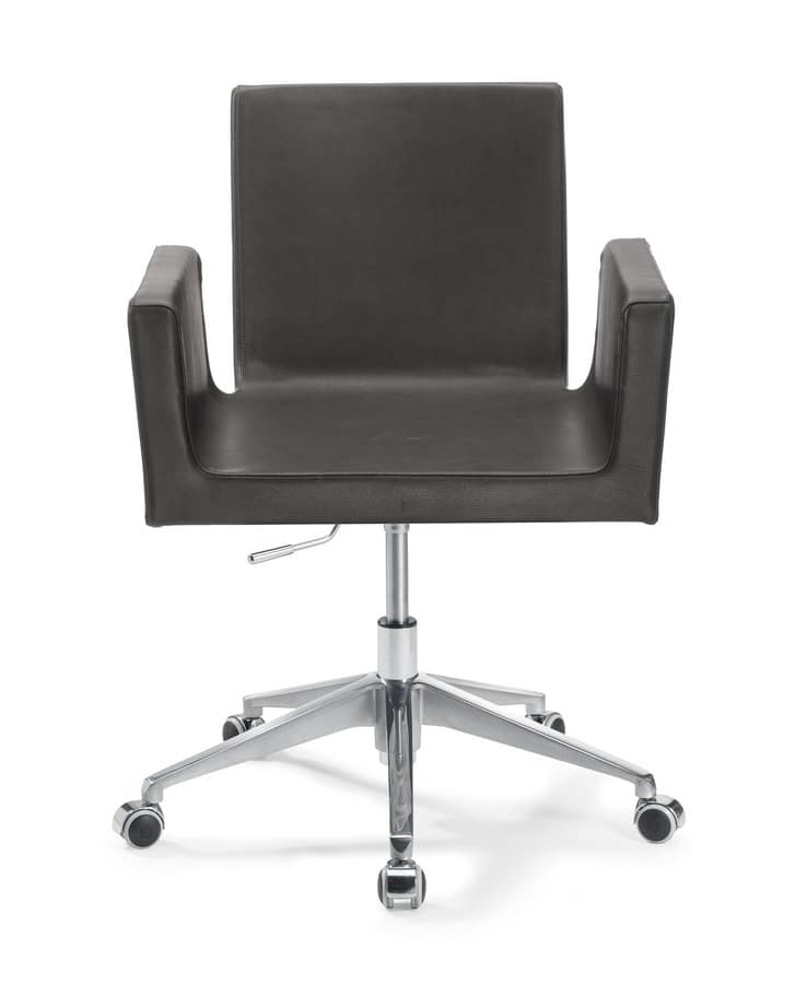 Ormelle Office, Modern chair with high base with 4-spoke, for waiting rooms