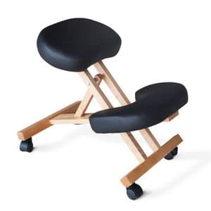 Orthopedic wooden office chair � PN100LEG, Office chair with wheels, orthopedic and ergonomic