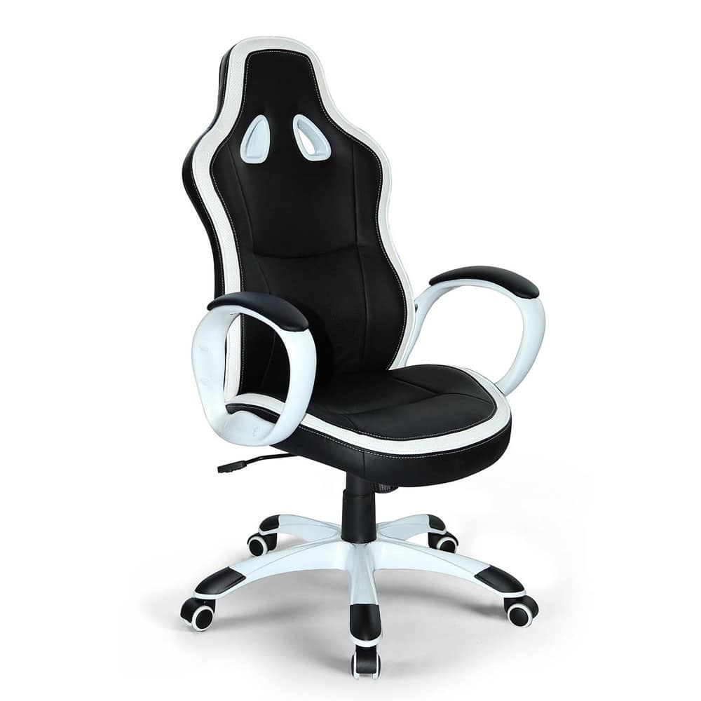 Poltrona gaming ufficio ecopelle sedia – SU035RAC, Sporty office chair, stable and comfortable