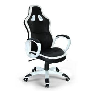 Poltrona gaming ufficio ecopelle sedia � SU035RAC, Sporty office chair, stable and comfortable