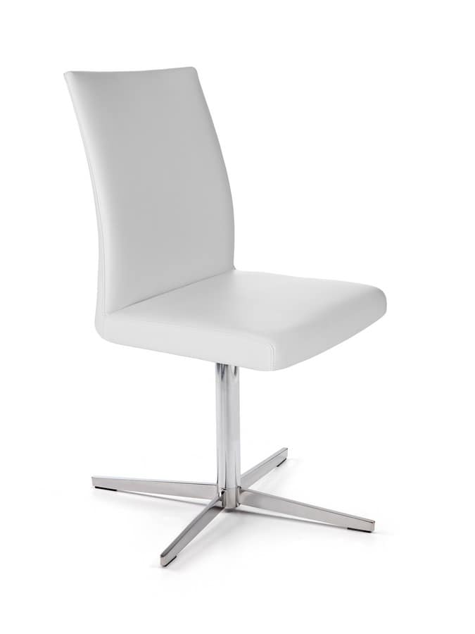 Possagno Office, Office chair with chrome flat base with spokes