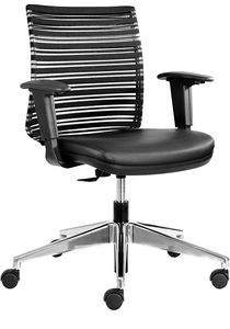 Prestige low, Office chair with low backrest, for meeting room