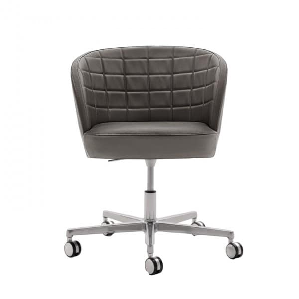 Rose 03036, Wheeled office chair with padded backrest