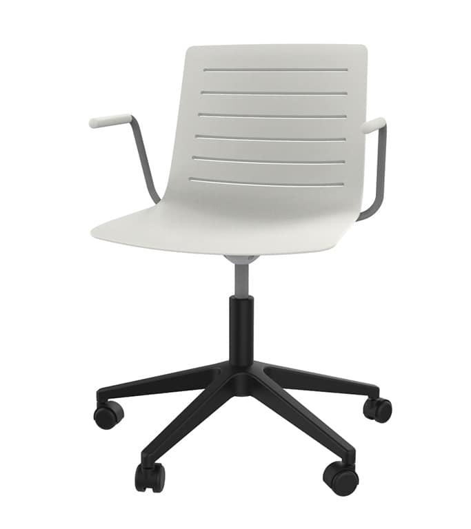 Slim 04A, 5-spoke chair with reinforced polypropylene shell