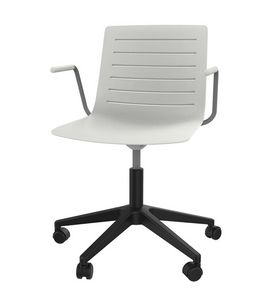 Slim 04A, 5-spoke chair with reinforced polypropylene shell