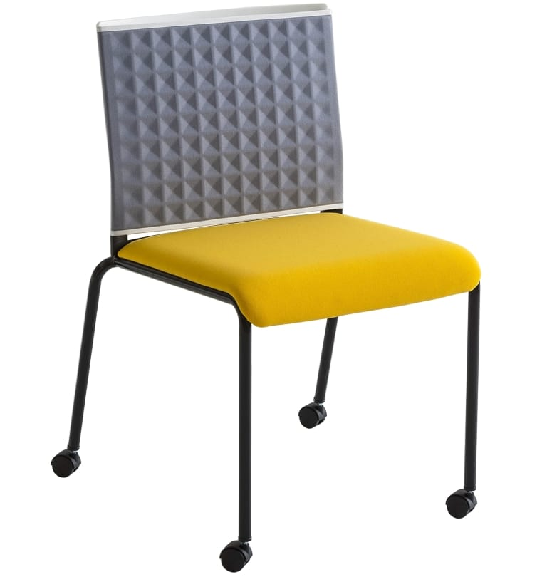 Teckel T R, Chair on wheels with thermoformed backrest