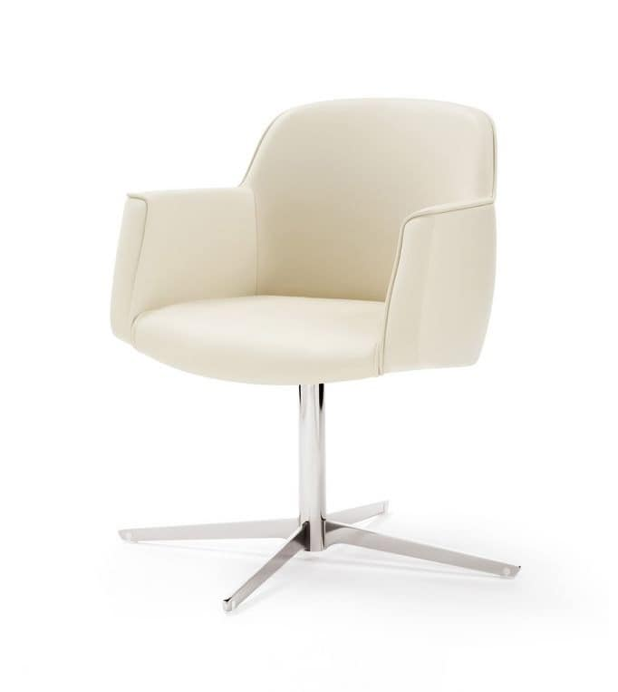 Chair for office customers chrome base padded seat idfdesign - Sedia tulip star ...