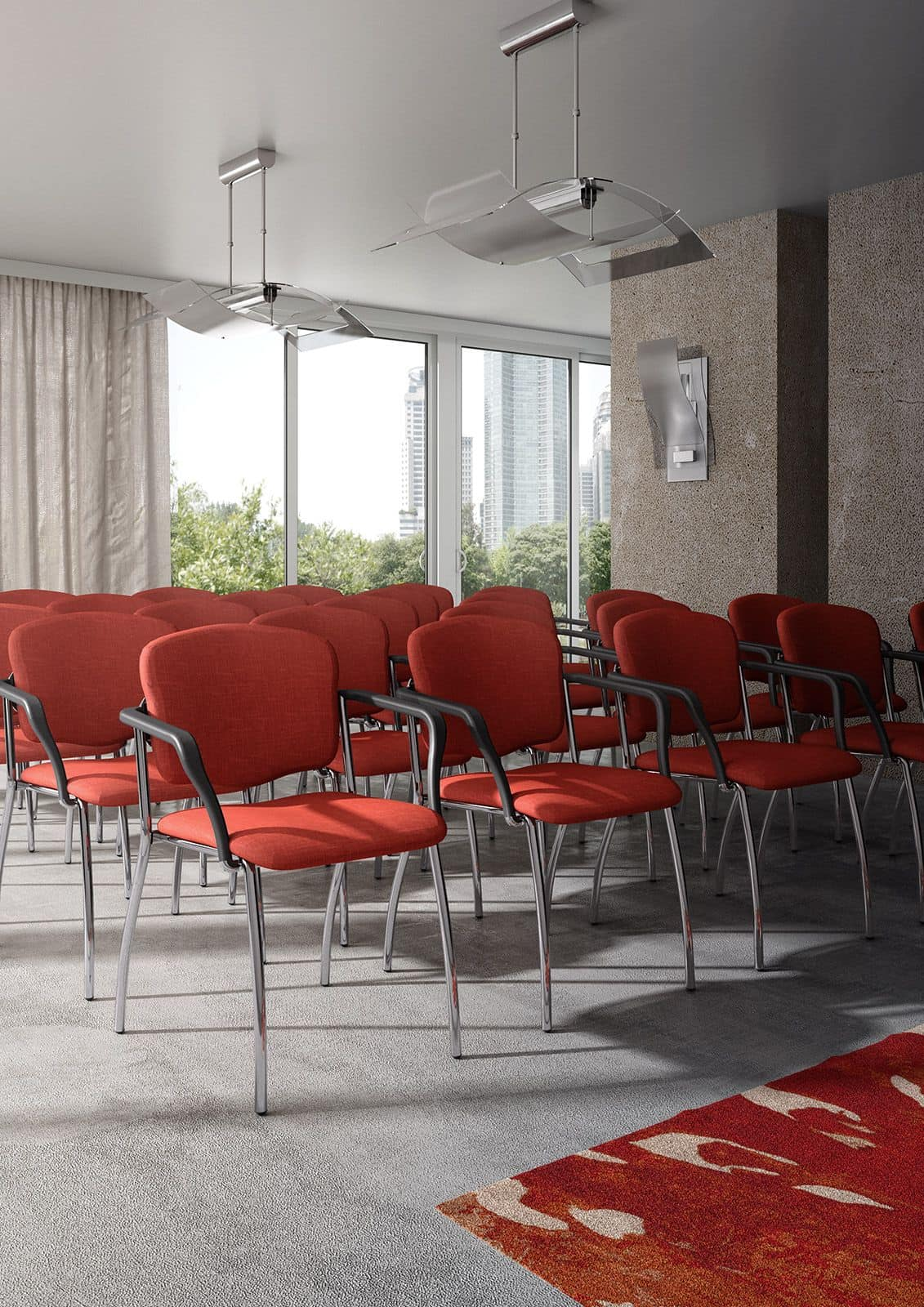 Valeria 6536, Padded armchair for conference rooms and waiting rooms