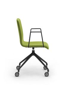 Zerosedici swivel, Swivel chair with 4-spoke base with casters