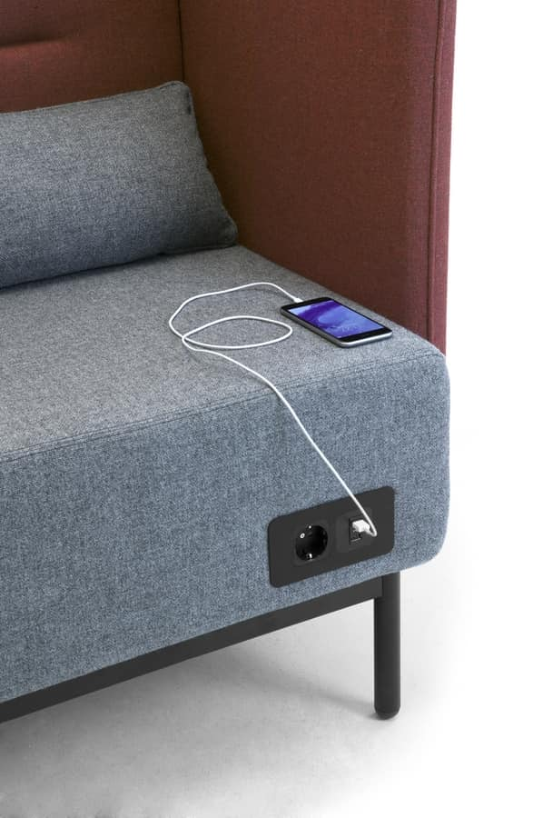 Around USB sofa, Modular sofa with electrification with USB sockets