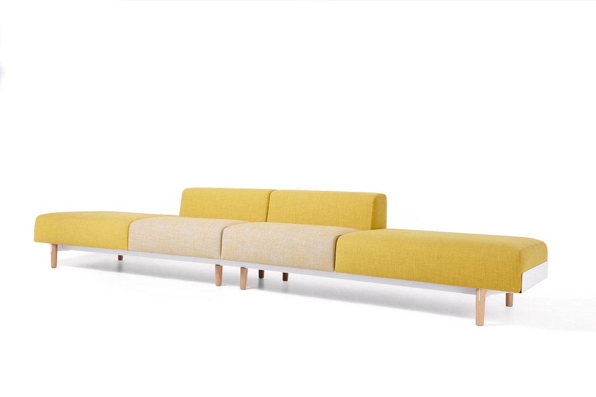 Bread compositions, Linear sofa, modular, for waiting areas and offices