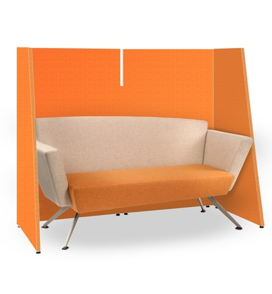 CORNER C2DB, Office sofa, square, padded, with metal legs