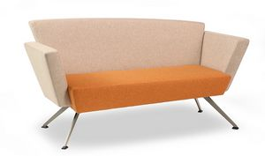 CORNER C2DB, Office sofa, square, padded, with metal legs
