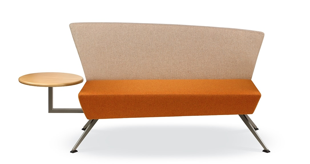 CORNER C2DT, Sofa for reception, with integrated table