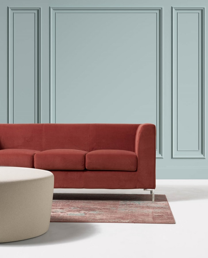 Frame New 3p, 3 seater upholstered sofa in easy style for medical studio