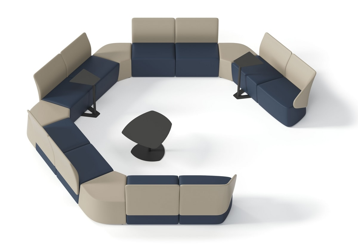 IKEBANA, Modular bench for waiting rooms and lounge areas