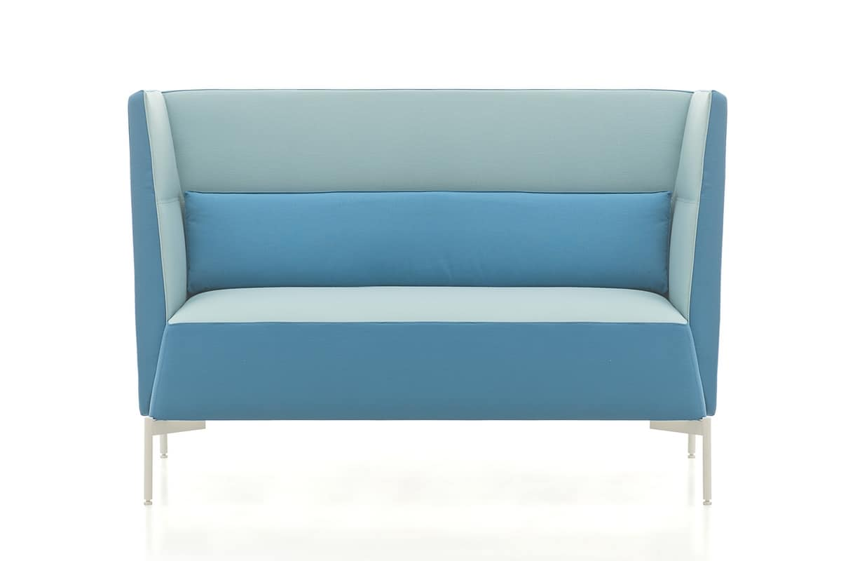 Kendo sofa, Sofa for waiting room, covered with customized fabrics