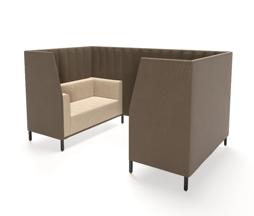 Kontex 2+2, Pair of sofas with privacy junction panel