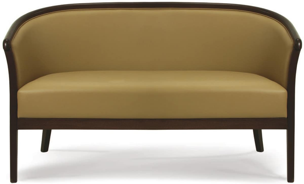 Lione D, Sofa in painted wood, for office and waiting rooms