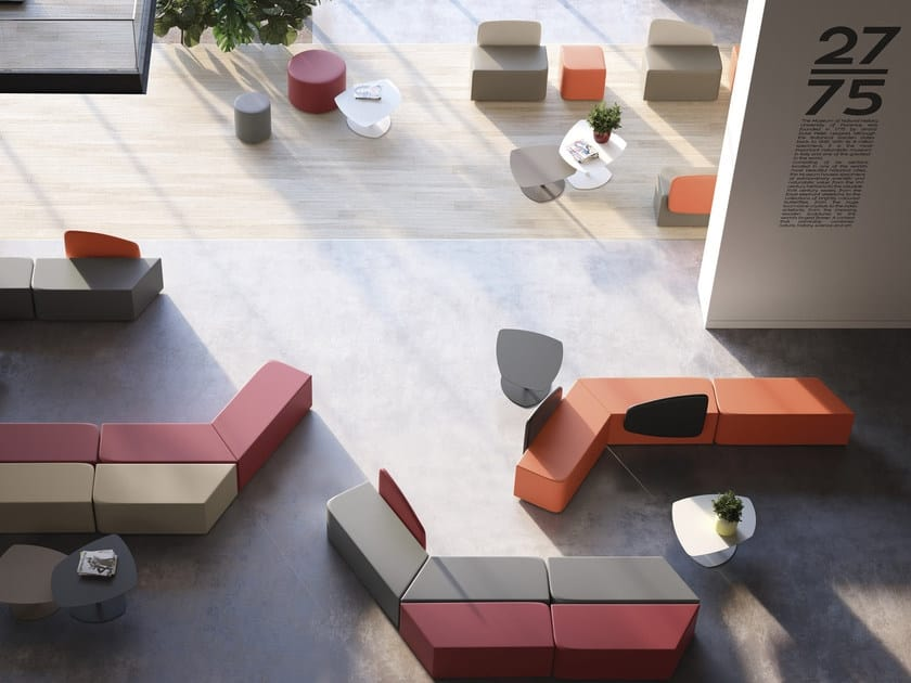 MANTRA, Modular pouf for waiting rooms and lounges