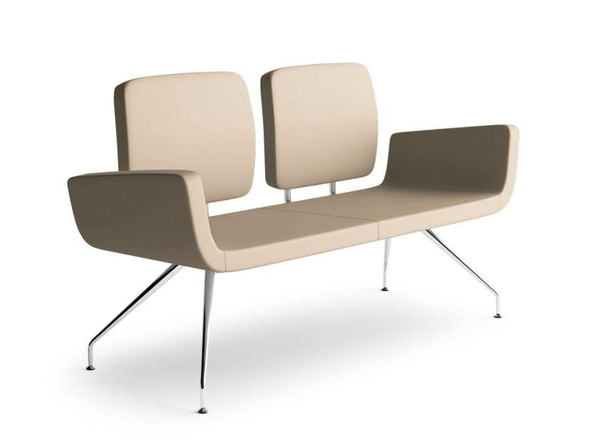 MONET, 2-seater sofa for waiting rooms