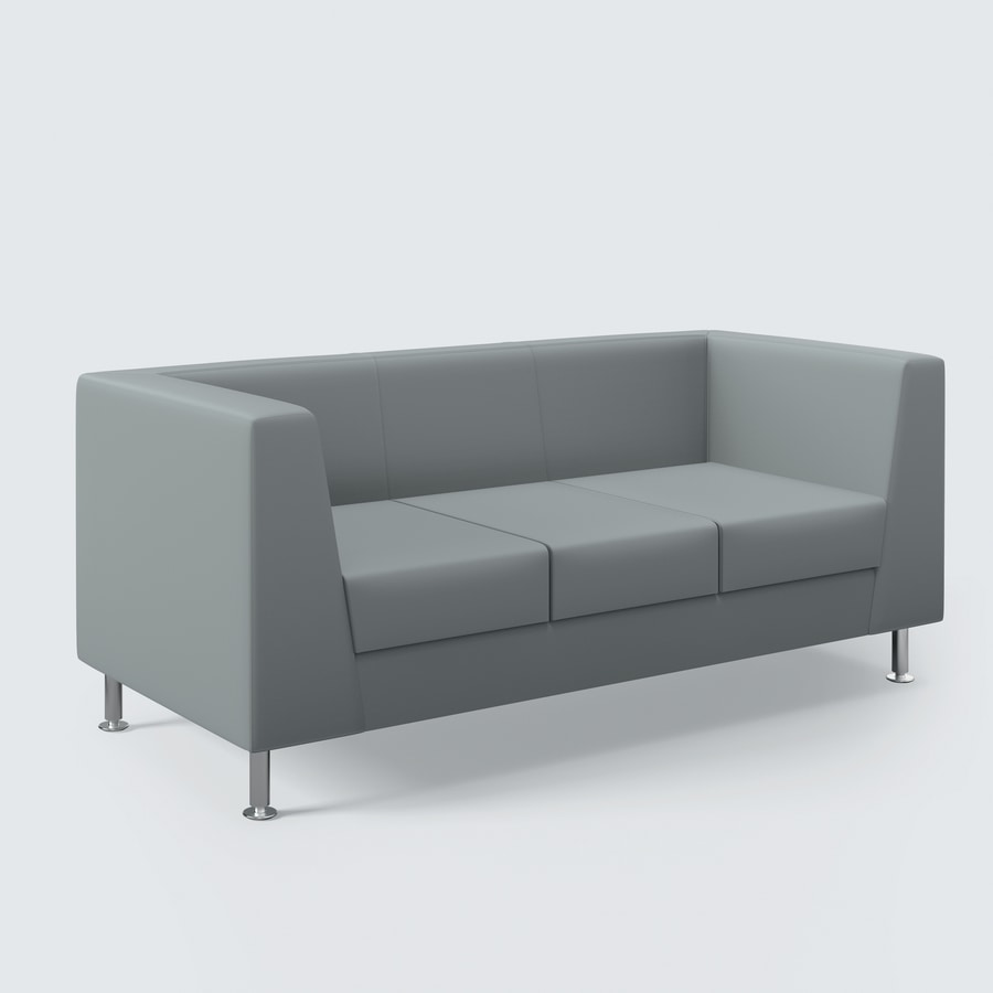 NAXOS, Sofa with clean design, finishes of the highest level, for the living room and office