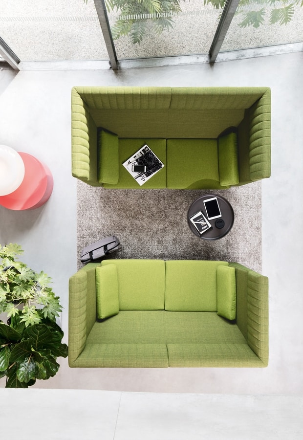 NAXOS ACOUSTIC, Sofas with sides and back raised to allow more privacy