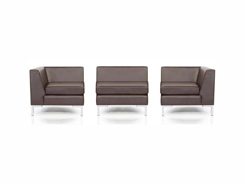 PL 998.01, Simple modular sofa, metal frame