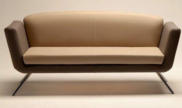 PL 999.02, Sofa covered with fabric or leather, for Waiting rooms