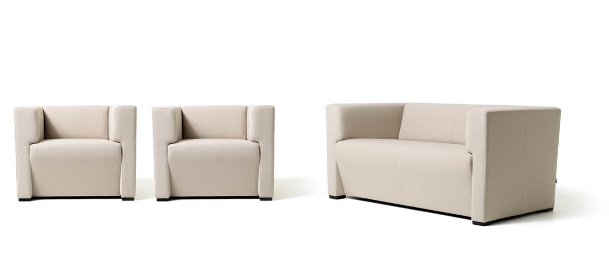 Toffee 2p, Linear sofa with 2 seats for waiting rooms
