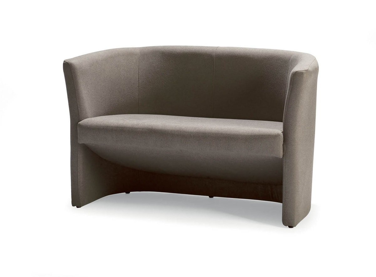 UF 142, Overstuffed sofa with tube shape, for offices