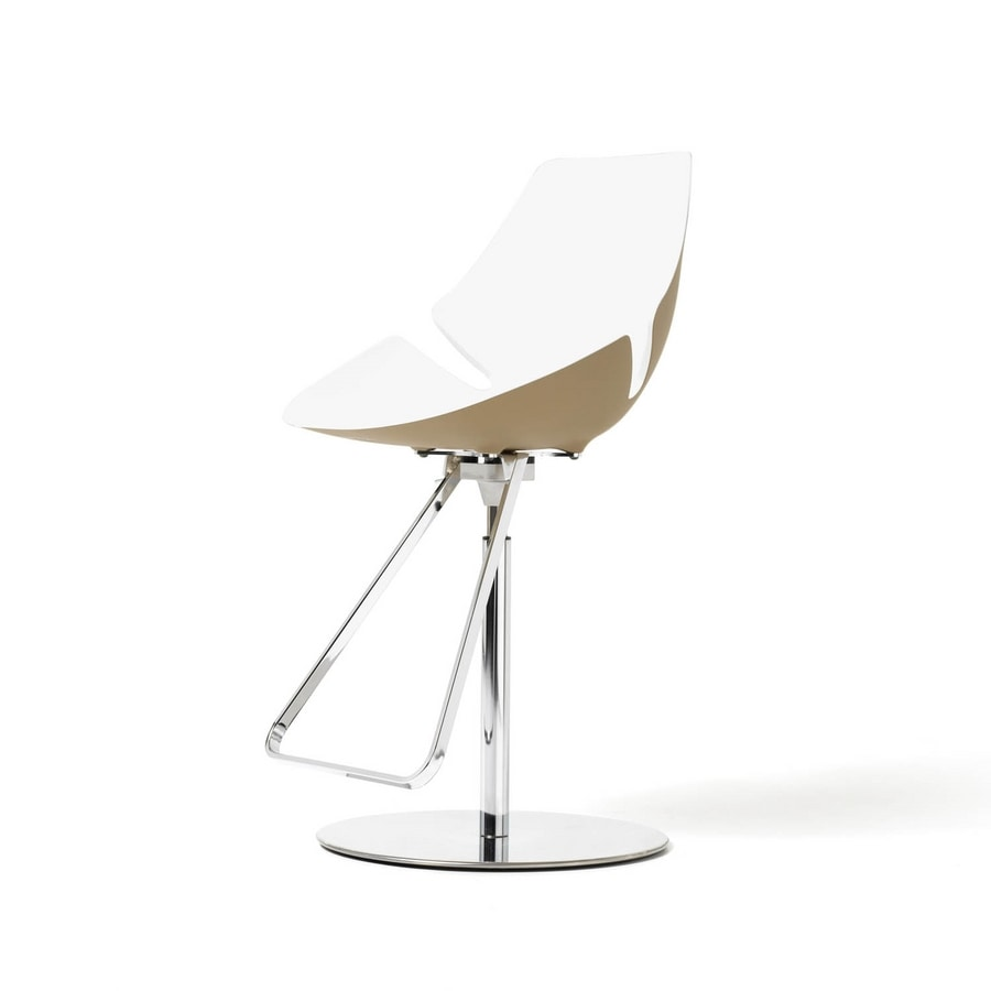 Eon gas stool, Stool in chrome metal and rigid polyurethane, for bars
