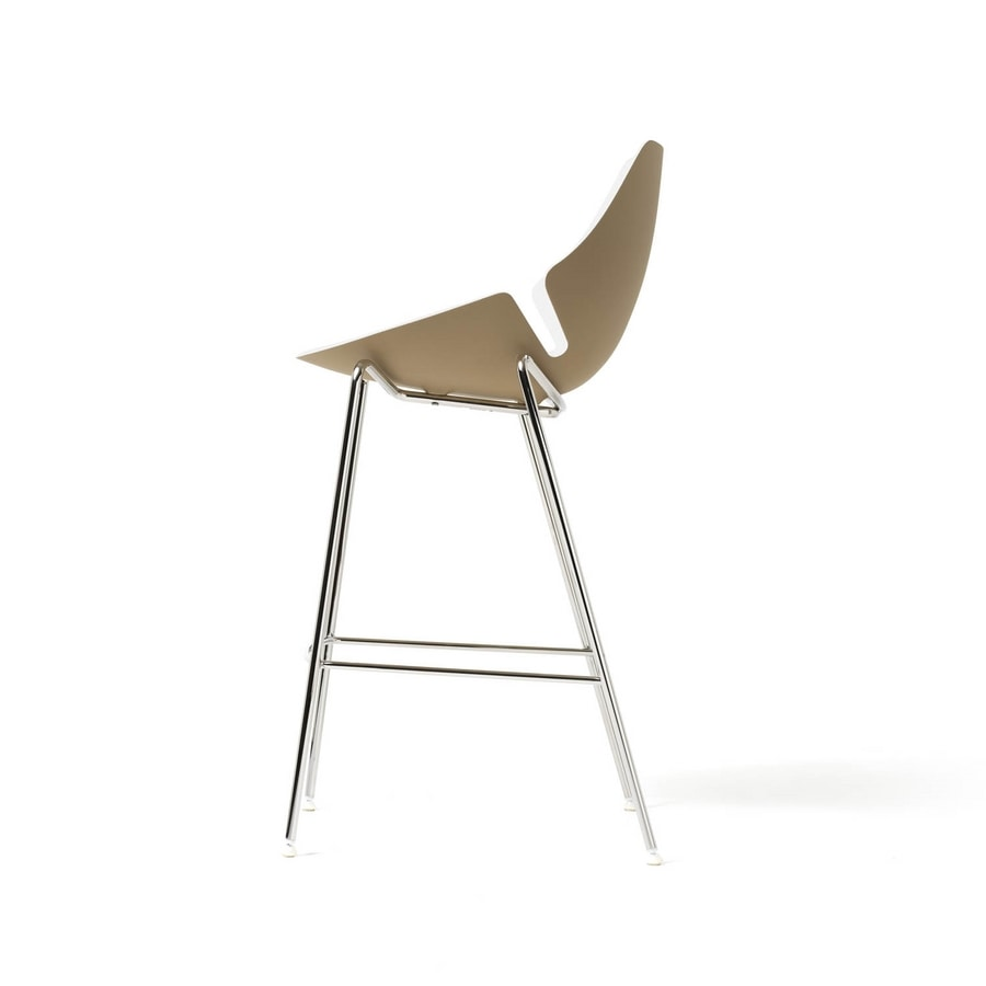 Eon stool fix, Metal stool, in various colors, for reception