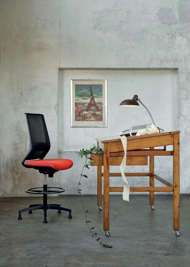 Logica Stool 01, Swivel stool for office