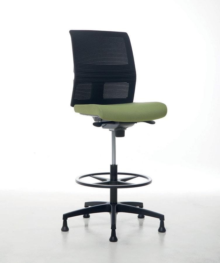 Omnia Plus Stool 02, Adjustable office stool