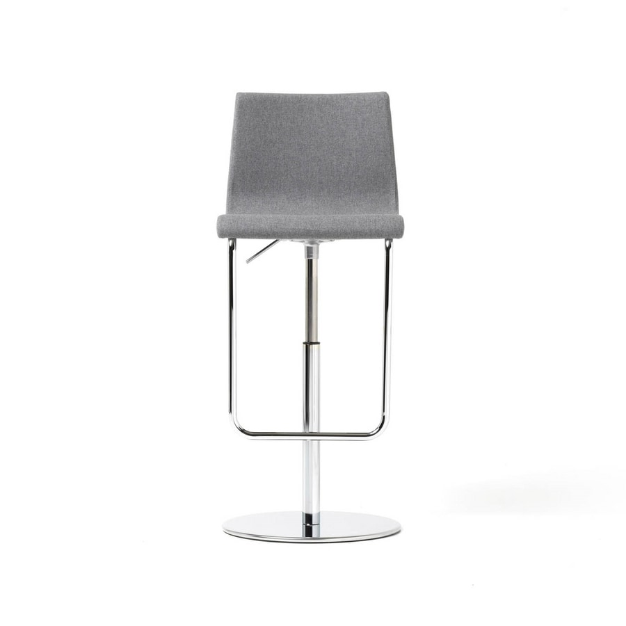 Prince gas high, Stool with high backrest and footrest, for office