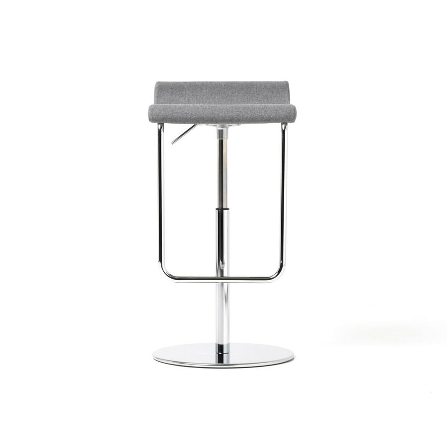 Prince gas low, Stool in chromed metal, with gas lift, for office