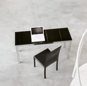 dl50 parigi, Office design table, in aluminum and glass