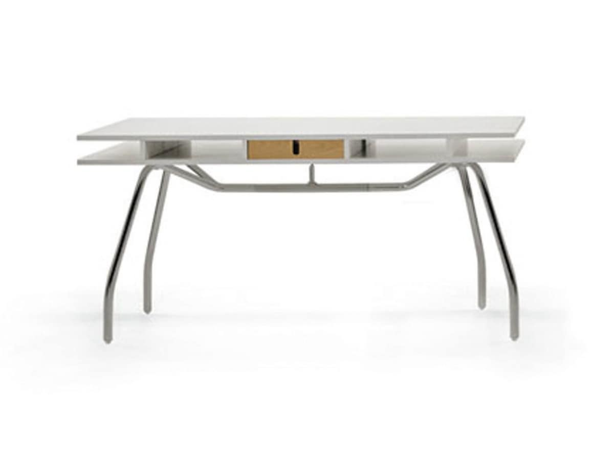 Worktop 150, Writing desk in wood with double top