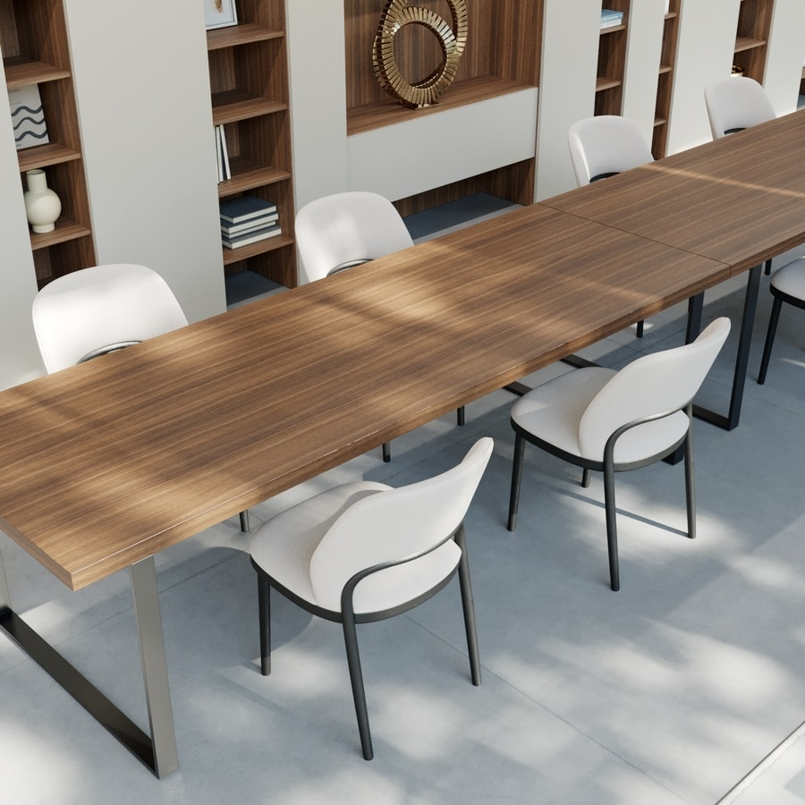 GEORGE rectangular, Rectangular table with clean design, for Office
