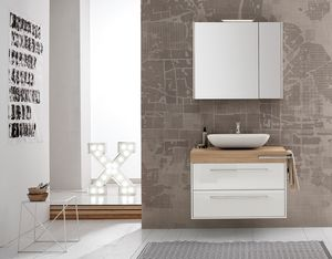 Summit 2.0 comp.06, Bathroom cabinet in glossy lacquered wood